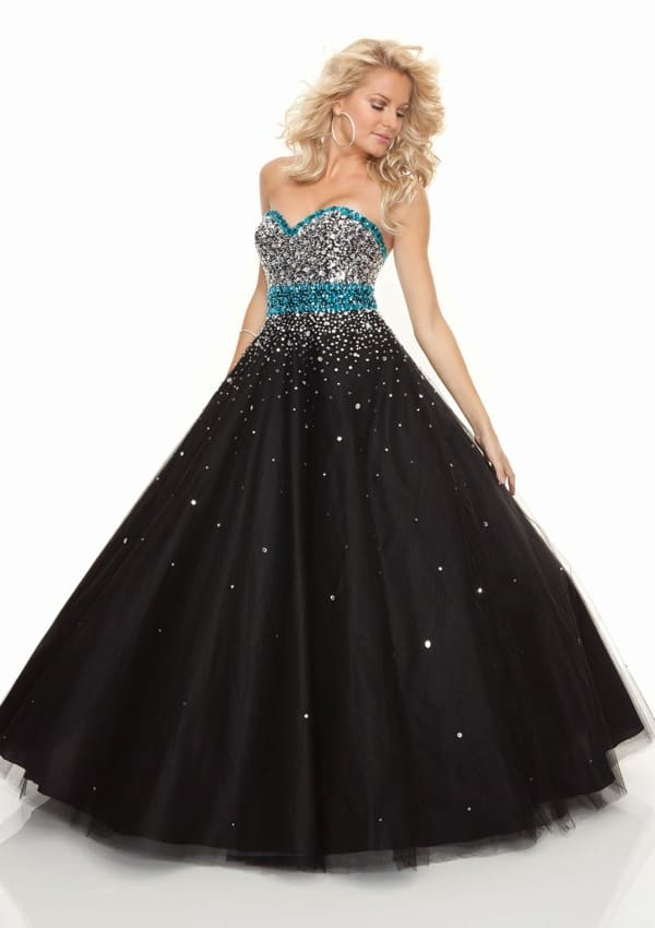 Black Ball Gown Prom Evening Wear