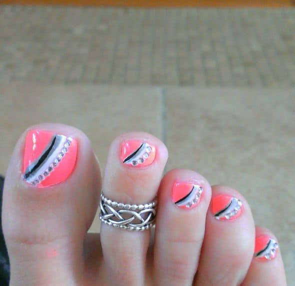 30 Fancy And Cool Toe Nail Designs 2019 Sheideas