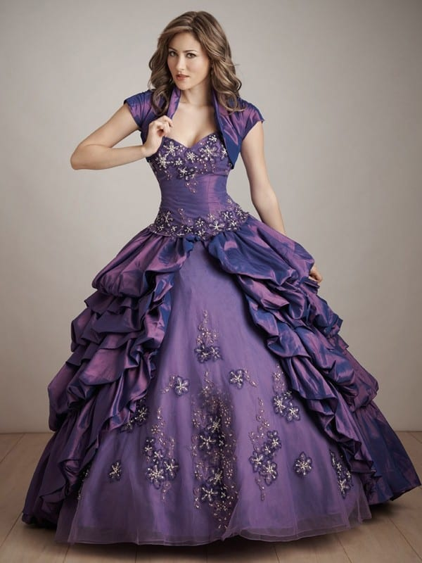 Purple Ball Gowns Evening Dresses