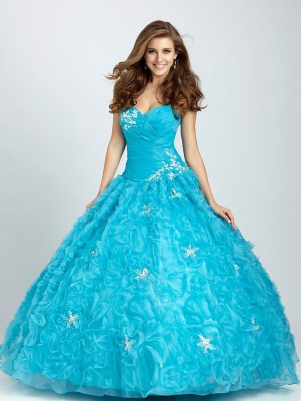 Sleeveless Floor Length Ball Gowns Dresses