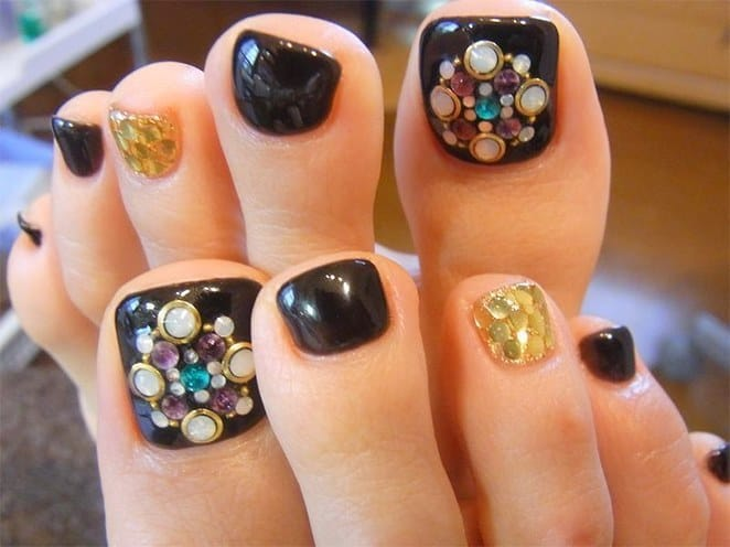 30 Fancy and Cool Toe Nail Designs 2017 - SheIdeas