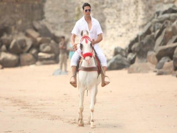 Akshay Kumar Riding A White Horse