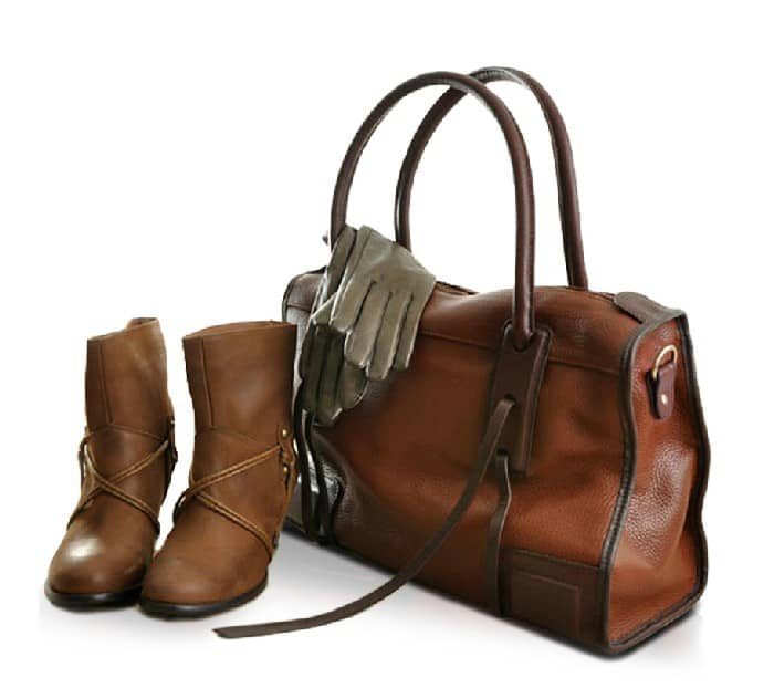 Amazing Leather Handbag With Shoes