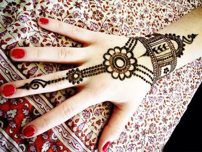 Arabic Henna Designs on Hands