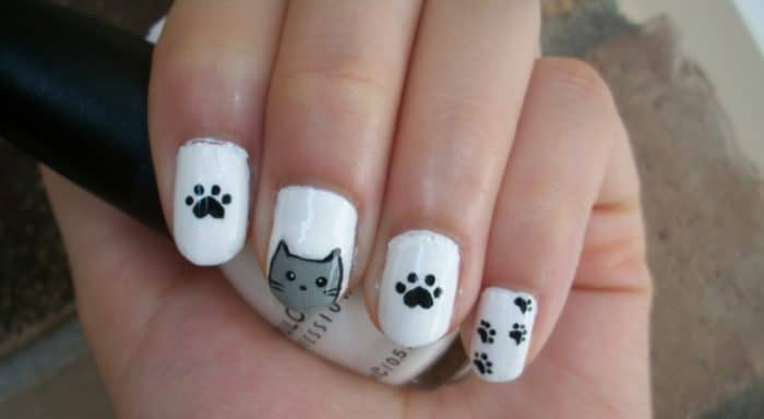 Awesome Cat Nails Design for Teen Girls