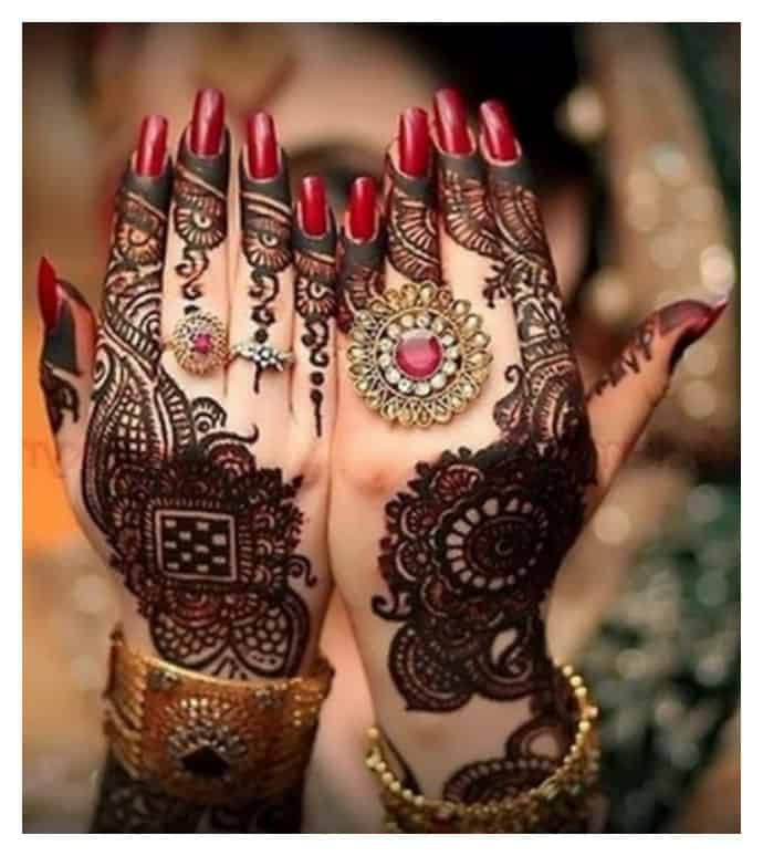 20 Beautful Henna Designs For Nikah: 25 Simple Easy And Beautiful Mehndi Designs For Hands 2017