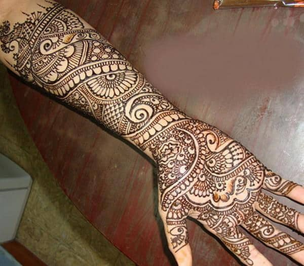 Beautiful Henna Designs Arabic Style on Full Hand