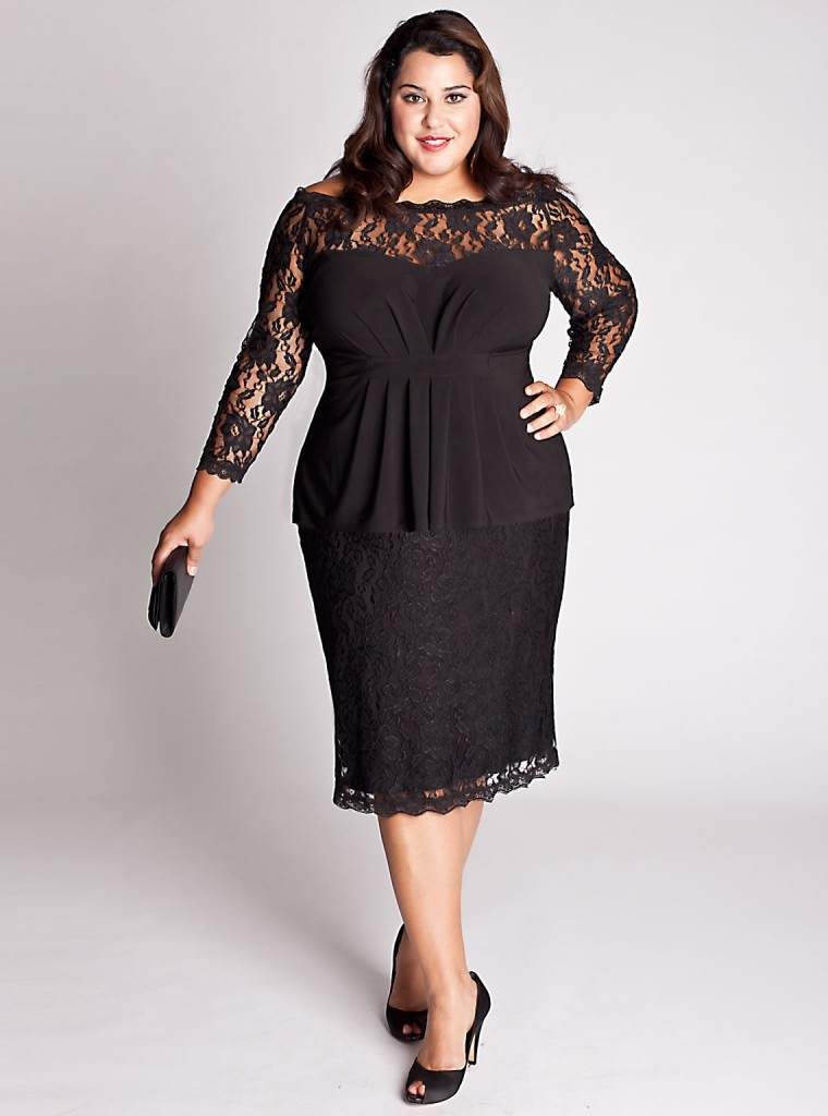 Black Plus Size Women Dresses