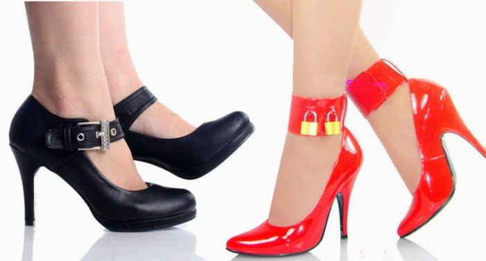 Black and Red Valentine Day Shoes 2016