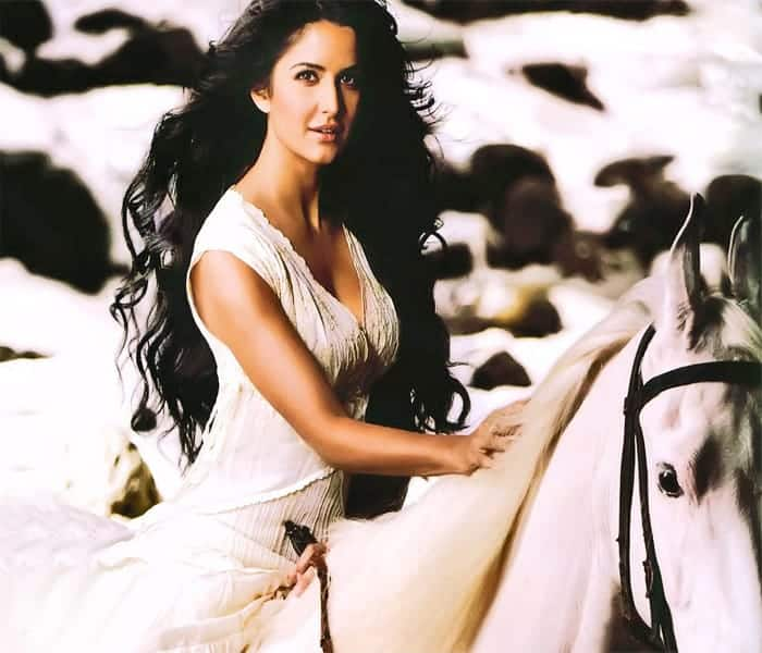 Bollywood Actress Katrina Kaif Riding Horse
