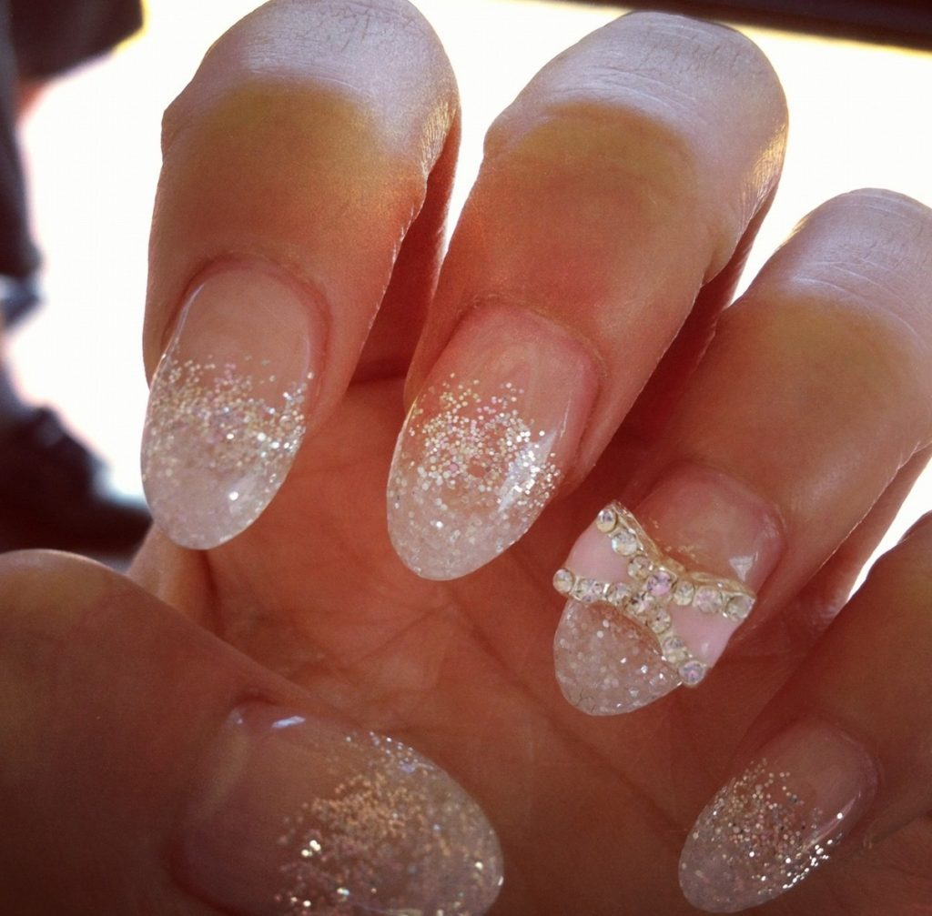 bow gel nail design ideas