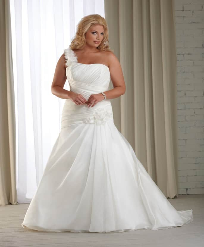 Cheap Plus Size Wedding Gowns for Brides