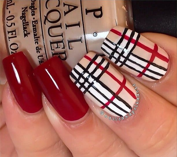 Cool Designer Red and White Nail Art Ideas