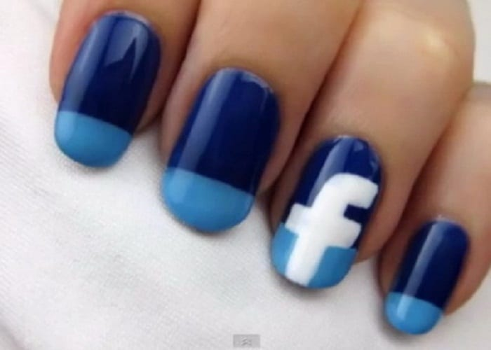 Cool Facebook Nails Design Fashion 2016