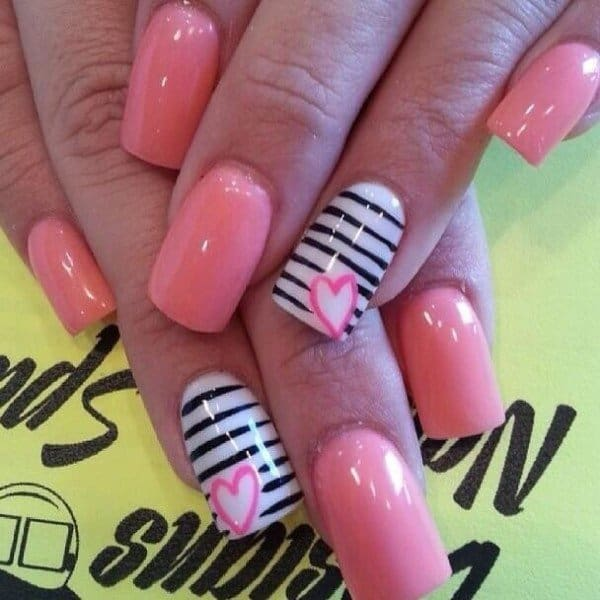 Nice Cool Valentineu0027s Day Nail Art Designs 2016