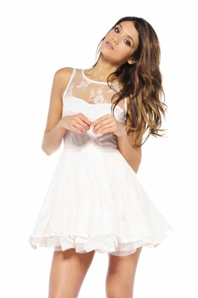 Cool White Lace Cocktail Dress 2016