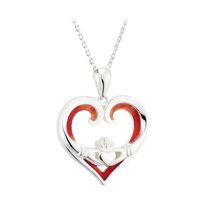 Cute Valentines Day Necklace in Silver Color