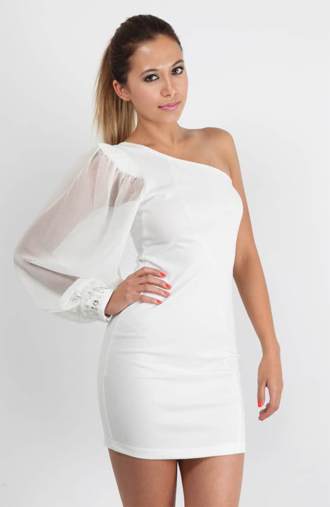 Cute White Cocktail Clothing for Women