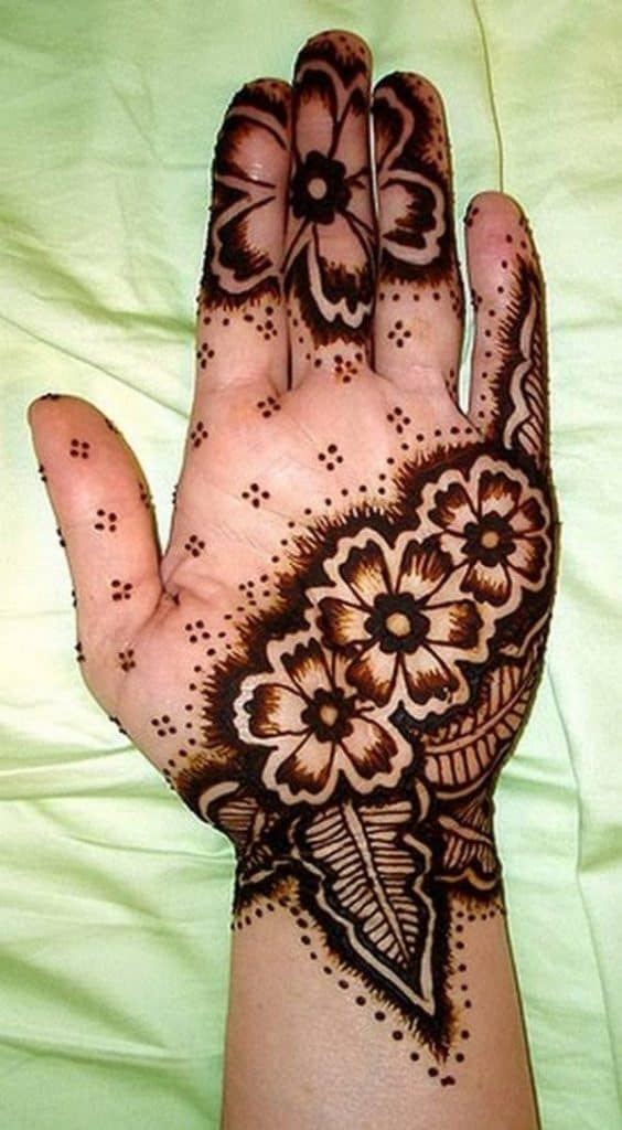 Easy Arabic Henna Design for Wedding