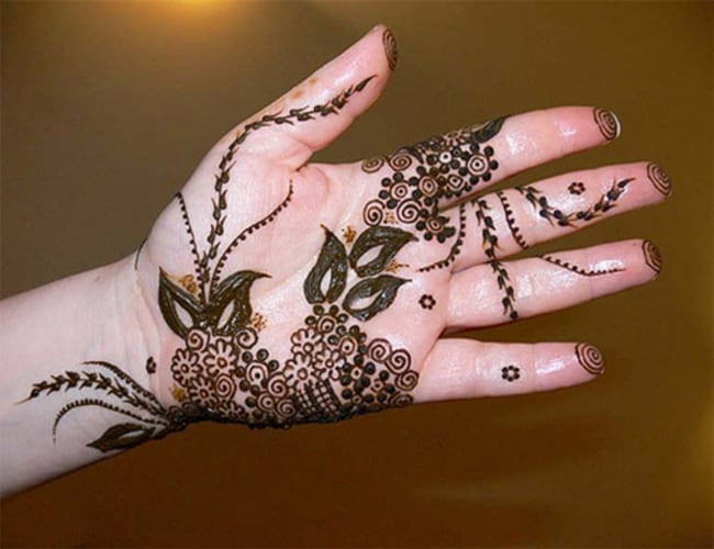 Easy Mehndi Henna Design for Kids