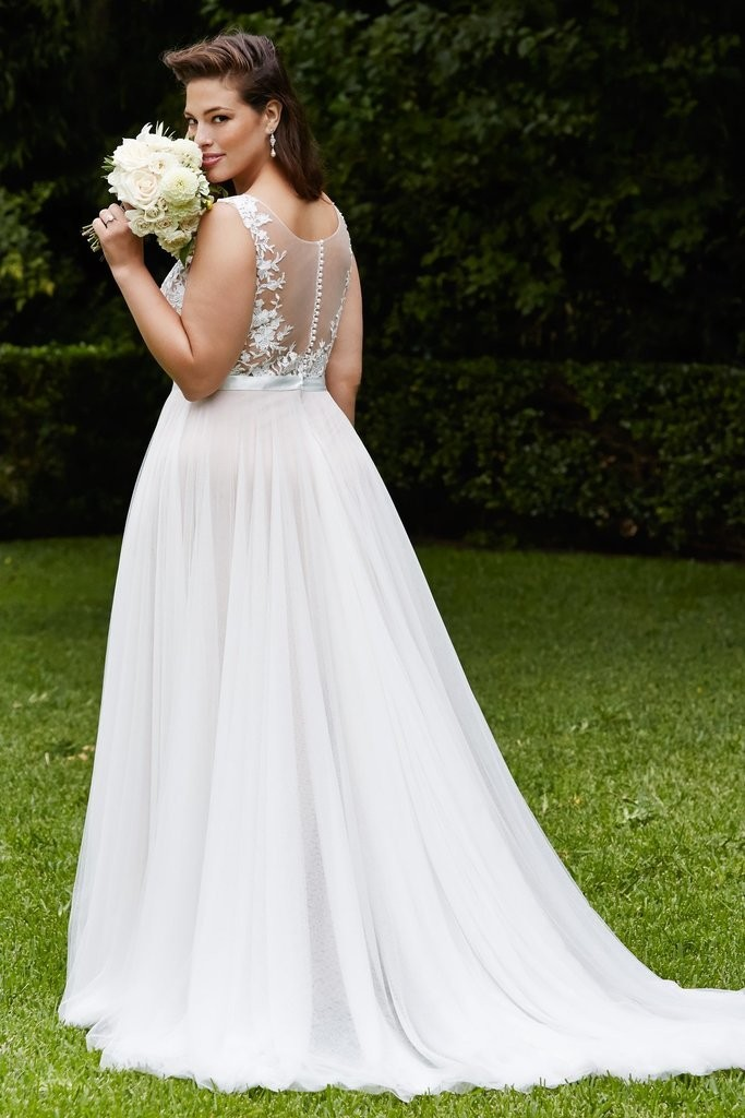 Elegant Women Plus Size Wedding Dresses