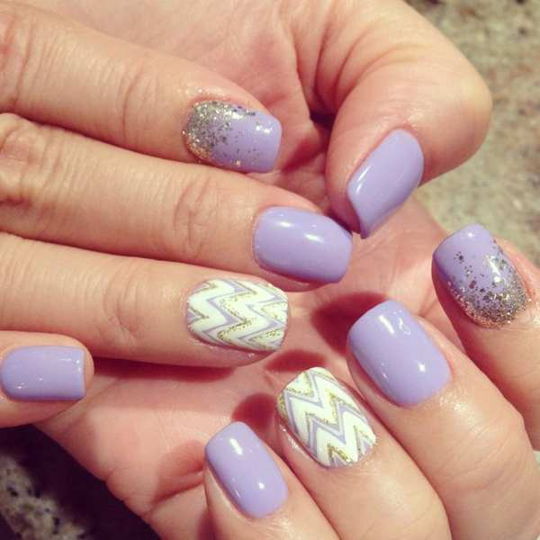 Fall Gel Nail Art for Women - 30 Cool Gel Nail Designs Pictures 2017 - SheIdeas