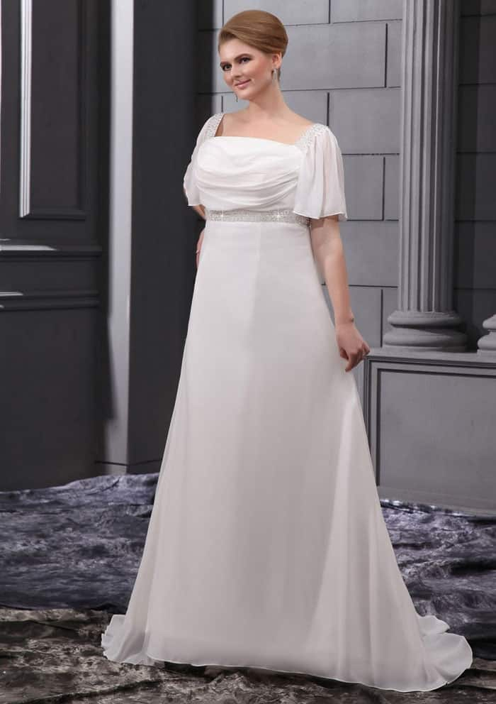 Fantastic Plus Size Wedding Dress with Sleeves