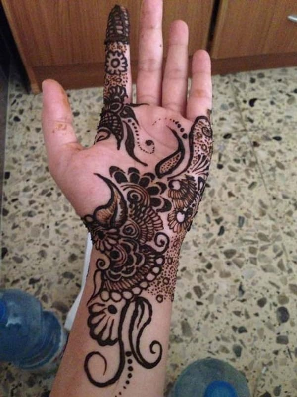 Front Hands Arabic Mehndi Designs
