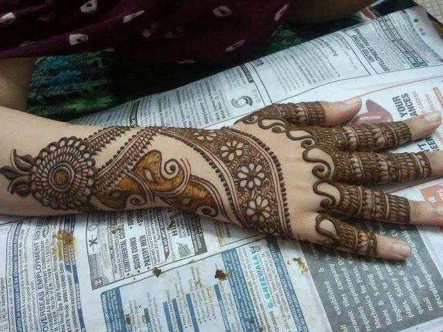 Full Hand Indian Mehndi Designs for Girls