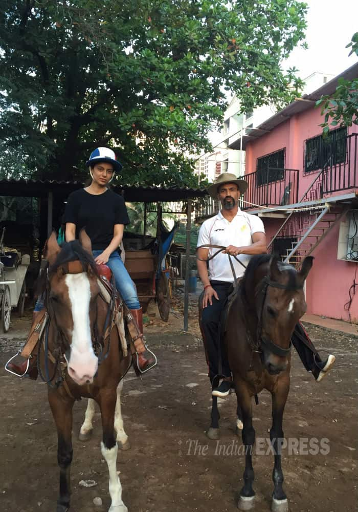 Kangana Ranaut Horse Riding Picture