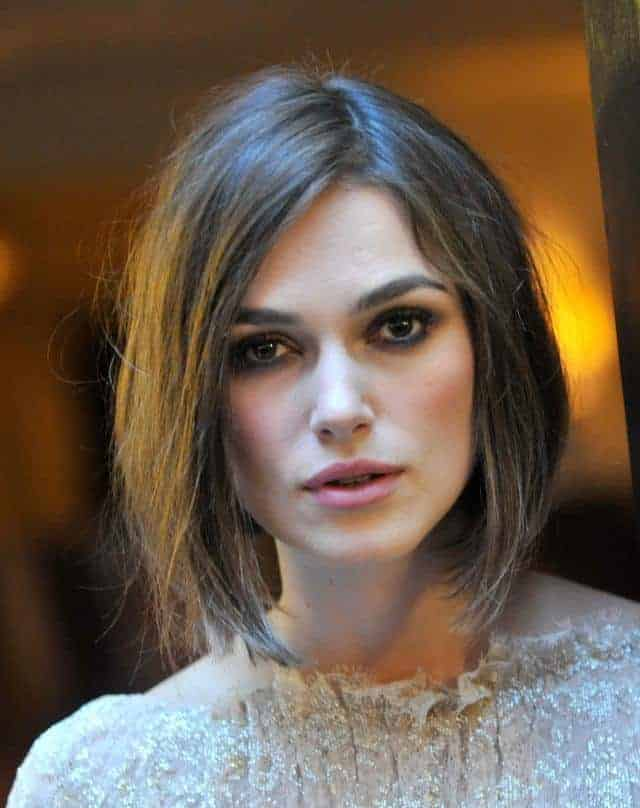 Keira Knightley Bob Haircut for Square Face
