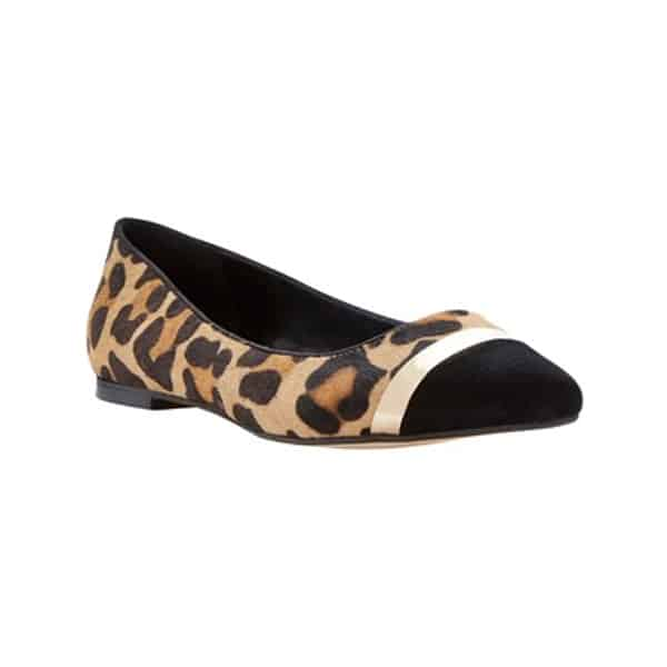 Leopard Printed Dressy Flat Shoes