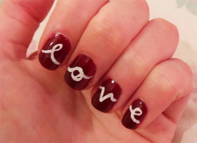 Lovely Valentine Day Nail Art for Girls 2016