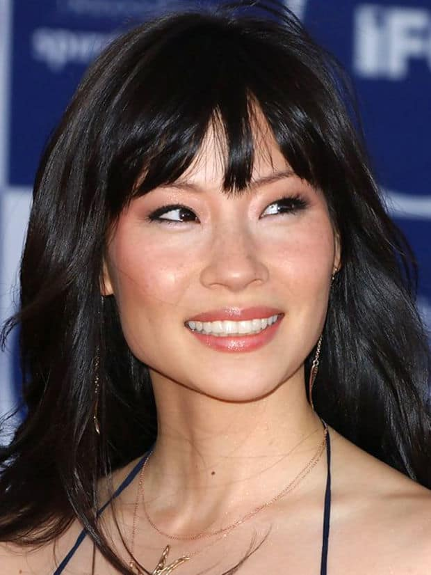 Lucy Liu Square Face Bangs Haircut
