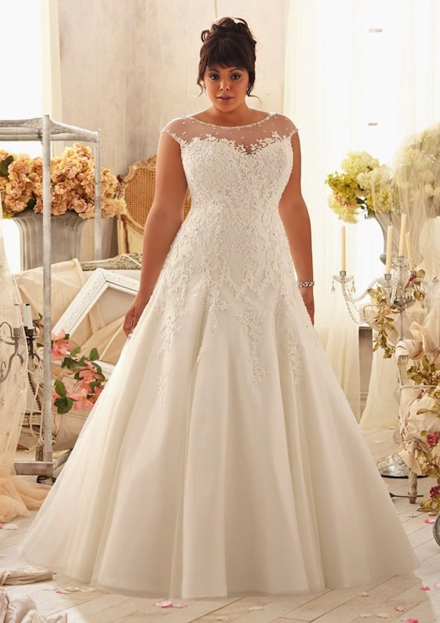 20 Affordable Plus Size Wedding Dresses for Women 2016 - SheIdeas