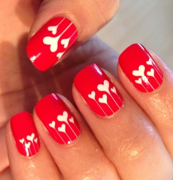 New Valentine Day Heart Nail Art Designs