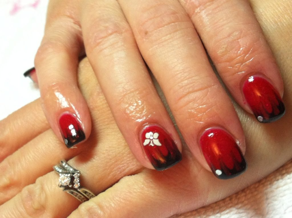 Red Gel Nail Design Trend - 30 Cool Gel Nail Designs Pictures 2017 - SheIdeas