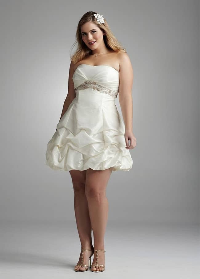 Short Plus Size Cocktail Wedding Dresses