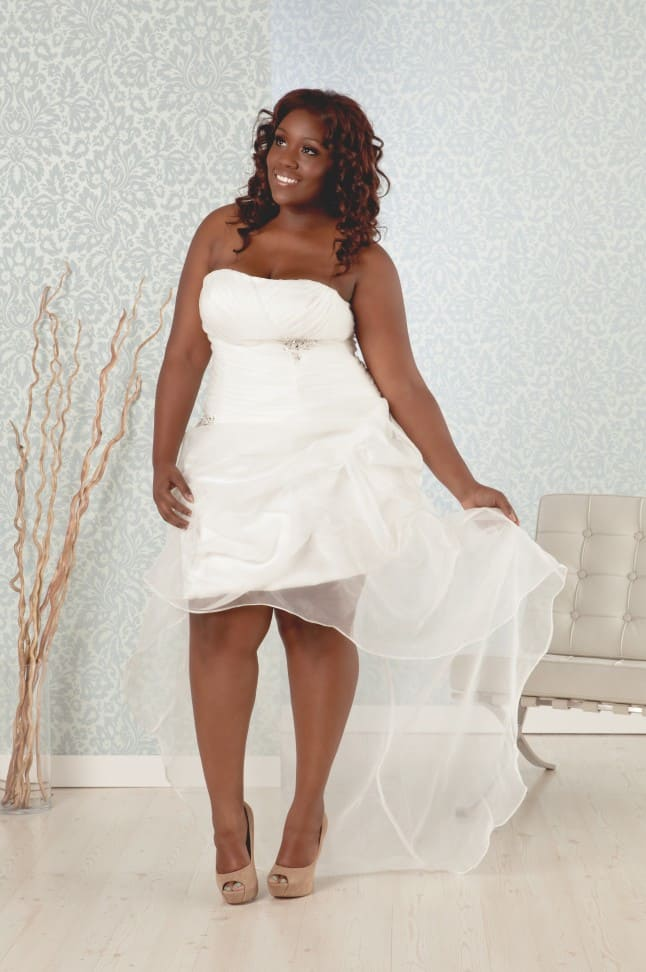 Short Plus Size Wedding Dress for Summer 2016