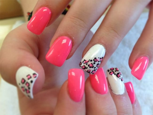 Simple Acrylic Nail Art Designs For Valentines Day