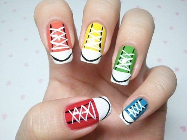 Sneakers Nail Polish Ideas for Girls