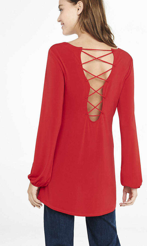 Stylish Womens Going Out Red Tops