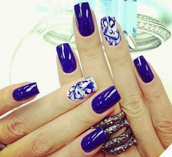 Summer Blue Nail Art Designs for 2016