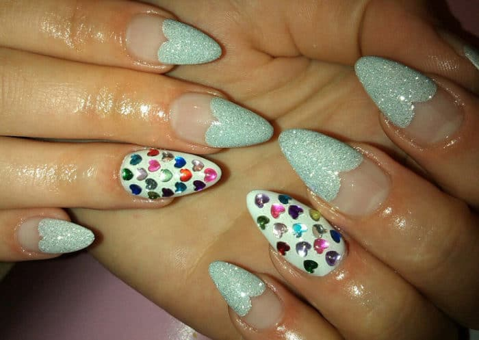 Super Heart Nail Art Designs for Special Day 2016