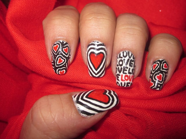 Sweet Valentines Day Nail Polish Ideas 2016