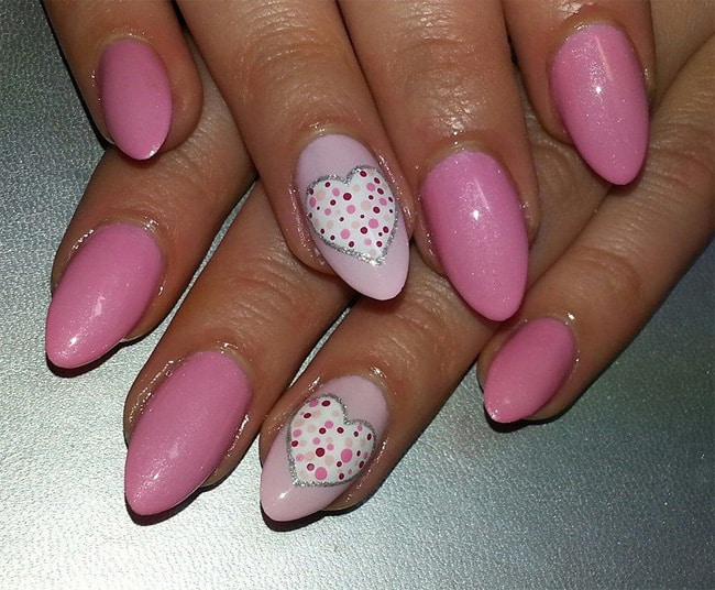 Valentines Day Nails Designs for Long Nails