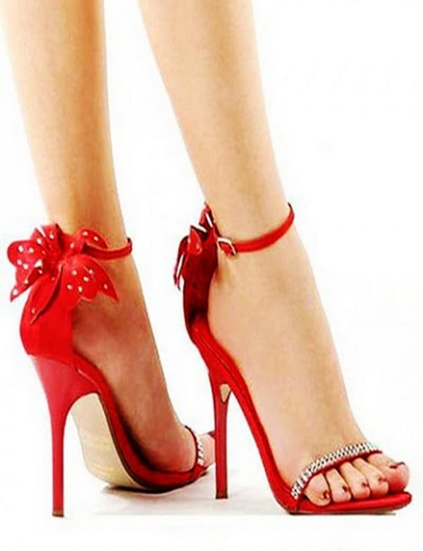 Valentines Day Red Color Footwear for Girls
