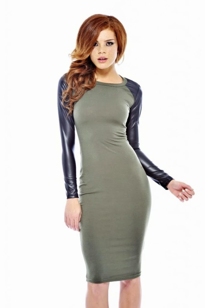 Wetlook Long Sleeve Midi Dress for Inspiration
