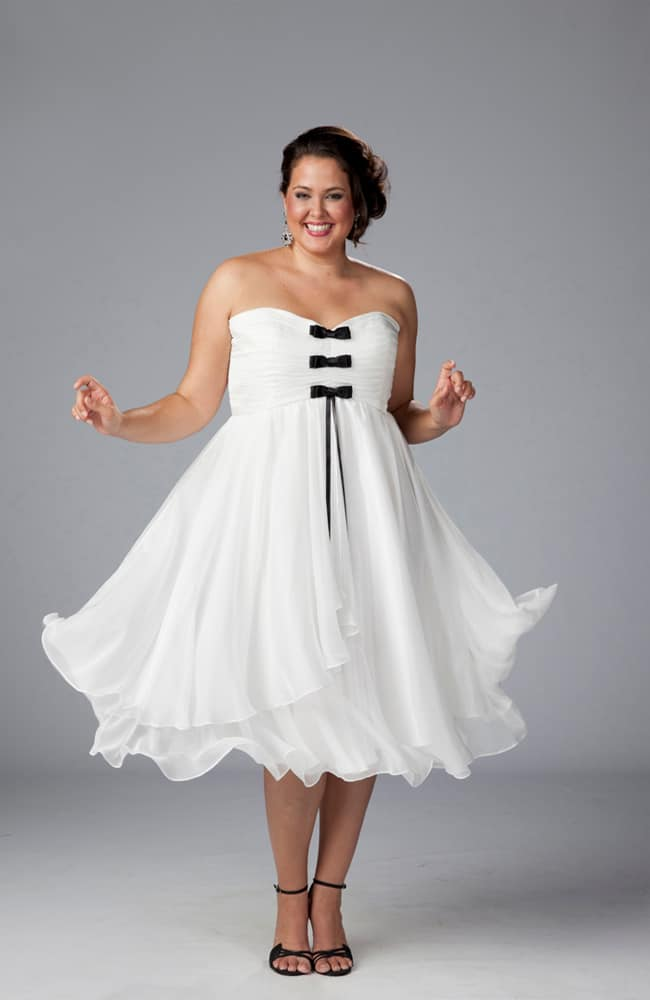 White Cocktail Dresses for Plus Size Women