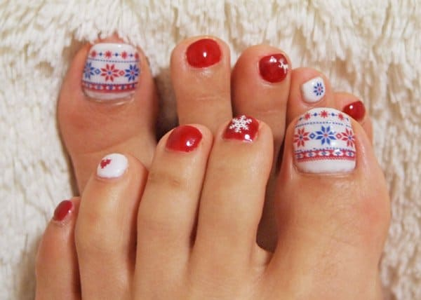 Women Toe Nail Designs for Valentines Day